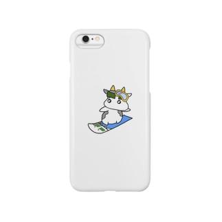 海苔眉毛牛スノボー Smartphone cases