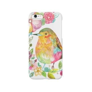 花と鳥 スマートフォンケース