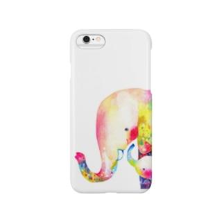 ねぇねぇ〔ゾウの親子〕 Smartphone cases