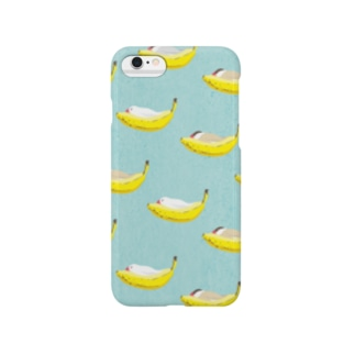 BANANA BED 水色 Smartphone cases