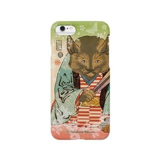 猫浮世絵シリーズ 御挨拶猫A Smartphone cases