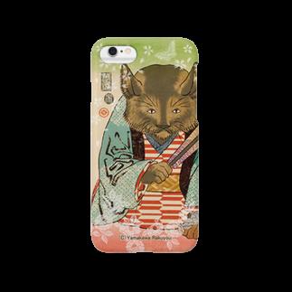 山歌和樂陽 浮世絵の猫浮世絵シリーズ 御挨拶猫A スマートフォンケース