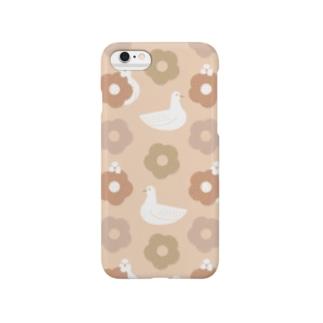 蕎麦ぼうろとハト 桃 Smartphone cases