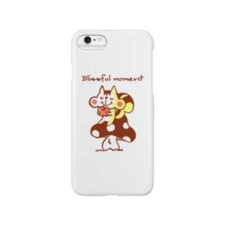 Blissful moment(至福のひととき)ブラウン Smartphone cases