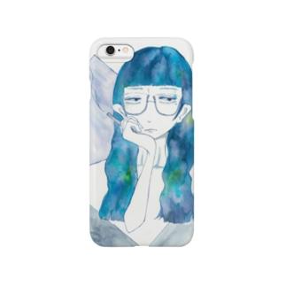 青と煙草 Smartphone cases
