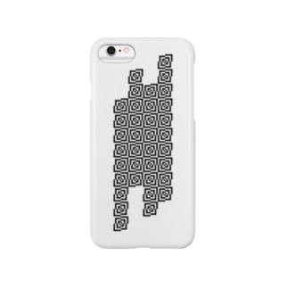四角の幾何学模様 Smartphone cases