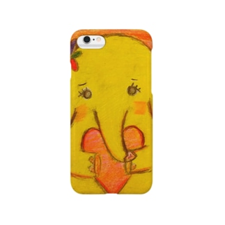 黄色いゾウの女の子。ハコちゃん。 スマートフォンケース