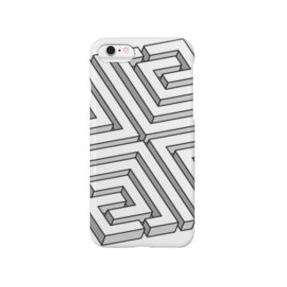 模様の立体です。 Smartphone cases