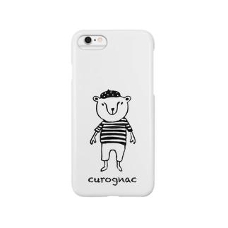 CUROGNACのくまきち.(ベレーボーダー) Smartphone cases