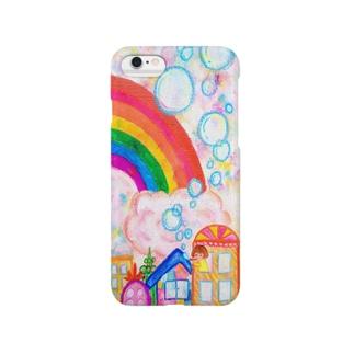 シャボン玉の朝 Smartphone cases