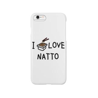 私は納豆好き Smartphone cases