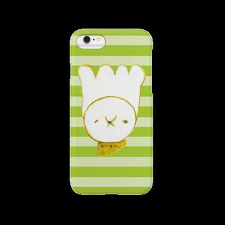 ヘッヂハッグベッドルームの【クリームパンさん】Border Smartphone cases