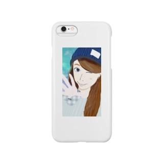 ウインクandニット帽 Smartphone cases