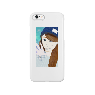 OKDのウインクandニット帽 Smartphone cases