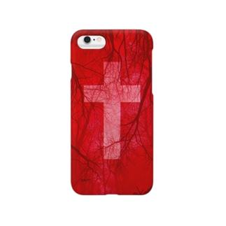 Blood vessel×Cross #Red Smartphone cases