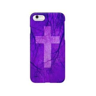 Blood vessel×Cross #Purple Smartphone cases