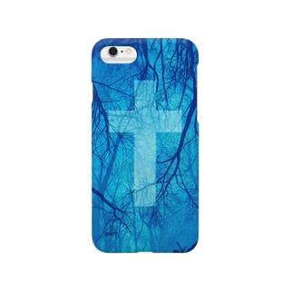 Blood vessel×Cross #Blue Smartphone cases