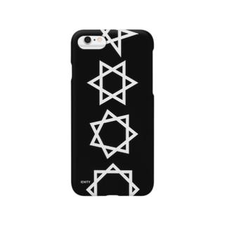 BIG Geometric star #Black Smartphone cases