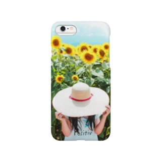ひまわりと麦わら少女 Smartphone cases