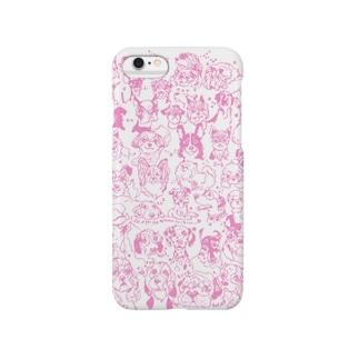 ラブドッグ ピンク Smartphone cases