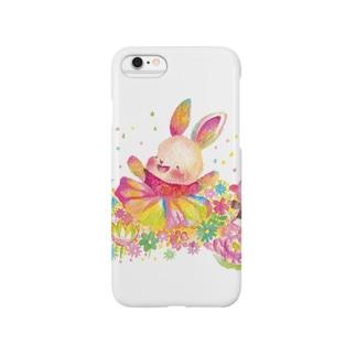 ウサギ 人生を楽しむ スマートフォンケース