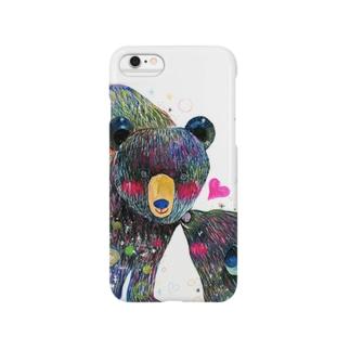 クマの親子 スマートフォンケース