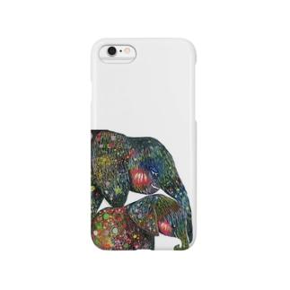 ゾウの親子2 Smartphone cases