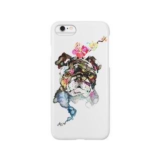 梅 ブルドッグ Smartphone cases
