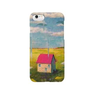 赤い屋根の家 スマートフォンケース