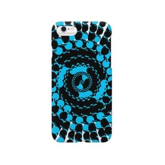 Spiral(Black & Blue) Smartphone cases