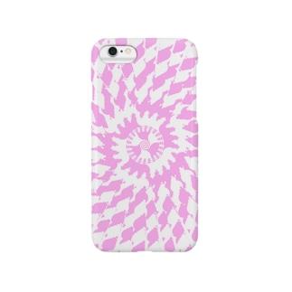 Spiral(Pink & White) Smartphone cases