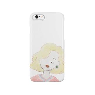ピンクトルマリンのくちびる Smartphone cases