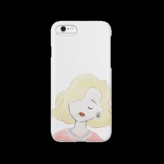 ___satohanakoのピンクトルマリンのくちびる Smartphone cases