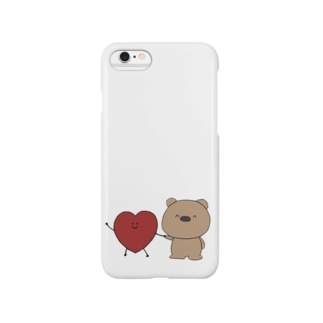 はーとちゃんとくまくん(heazu) Smartphone cases