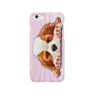 キャバリア№05 ブレンハイパピー ピンク Smartphone cases