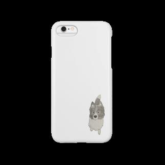 aibouのI♥︎BORDER COLLIE onedari series Smartphone cases