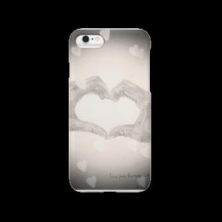 まお仔のheart-デッサン(クロ) Smartphone cases