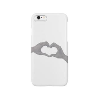 ハートの手(デッサン) Smartphone cases