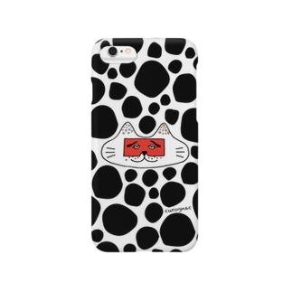 にわかニャンコblack Smartphone cases