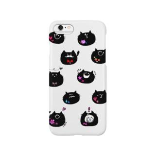 黒猫シャンティ Smartphone cases