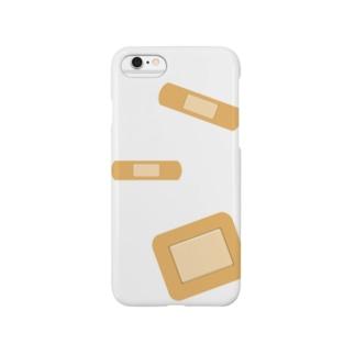 morica36の絆創膏(ばんそうこう)White Smartphone cases