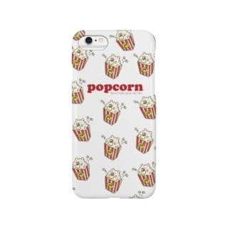 ぶちゃくま。ポップコーン Smartphone cases