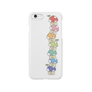 積み上げ7色きのこ Smartphone cases