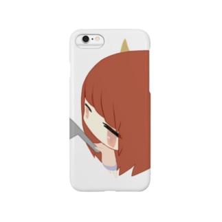 猫耳包丁女の子 Smartphone cases