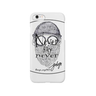 髭と帽子と眼鏡(never say never ver) Smartphone cases