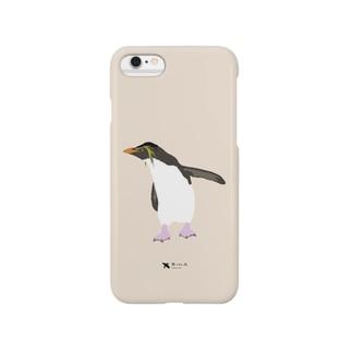 飛べない鳥のイワトビペンギン Smartphone cases