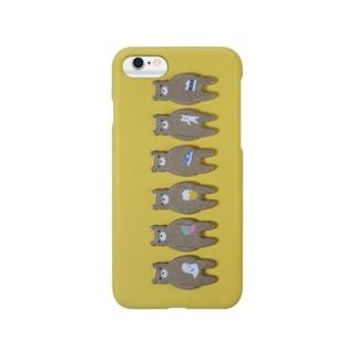 ずらっとお土産クマ Smartphone cases