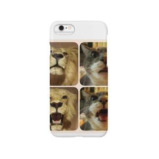 messieのシル子様 vs ライオン Smartphone cases