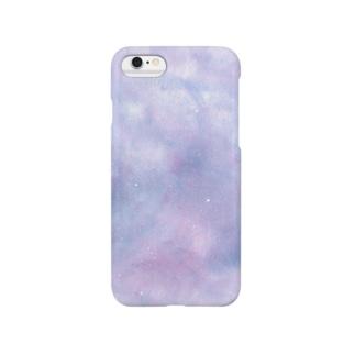 宇宙柄iPhoneケース(薄紫色) スマートフォンケース