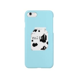 milk pack ドット絵 Smartphone cases